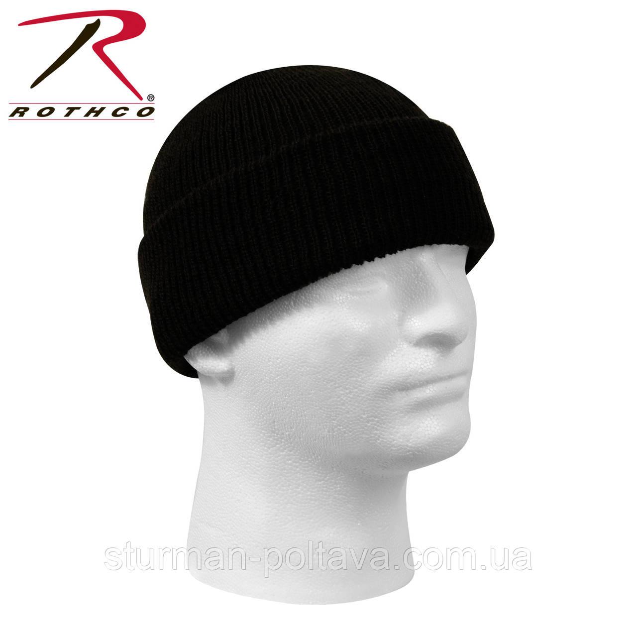 Шапка чоловіча вовняна зимова Wool Watch Cap 100% вовна колір чорний ROTCHO США