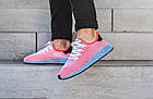 """Мужские кроссовки adidas Deerupt Runner """"Solar Bird"""" Red/Blue (в стиле Адидас) розовые, фото 4"""