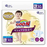 Подгузники GOO.N SUPER PREMIUM MARSHMALLOW для детей 12-20 кг (размер XL,на липучках,унисекс,30 шт.)