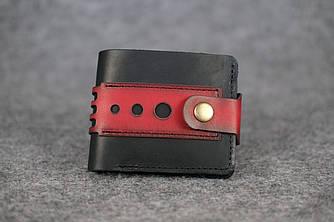Мужское портмоне с застежкой |60003| Италия | Черный + Красный