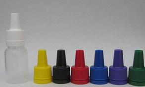 Флакон для жидкости цветной. Вставка-капельница, крышка с контролем вскрытия - 10мл