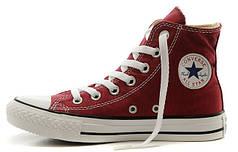 Женские кеды Converse All Star High бордовые
