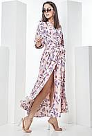 """Длиное платье с красивым принтом """" Баттерфляй2"""", фото 1"""