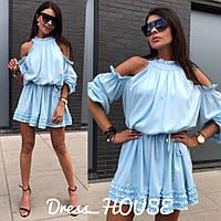 Платье мини красивое нежное с рюшами разные цвета Smsa2335