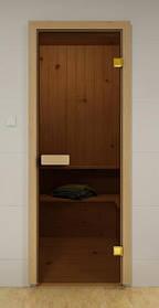 Двери для бани бронза 70х190 Стекло