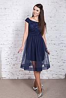 Нарядное платье для девушек с полупрозрачной юбкой 2018 - Арт пл-237, фото 1