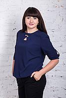 Однотонная женская блуза батал весна-лето 2018 - (Арт бл-185), фото 1