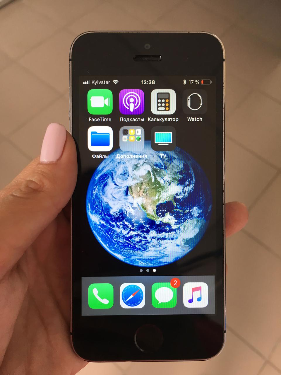 Iphone 5s 16 GB Space Gray Touch ID работает Блок, кабель