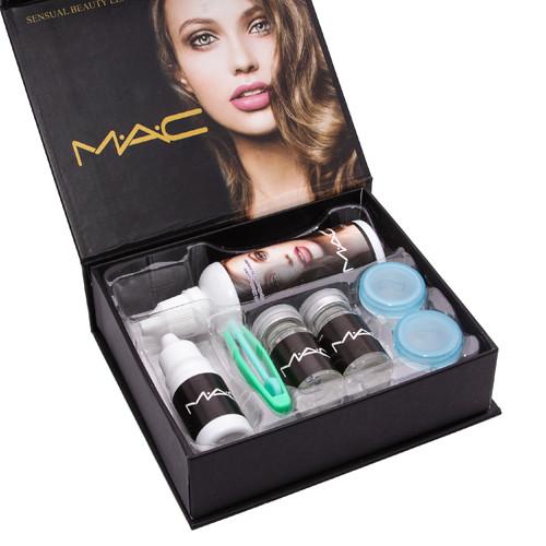 Линзы косметические цветные MАС Sensual Beauty Lens True Sapphine (голубые)