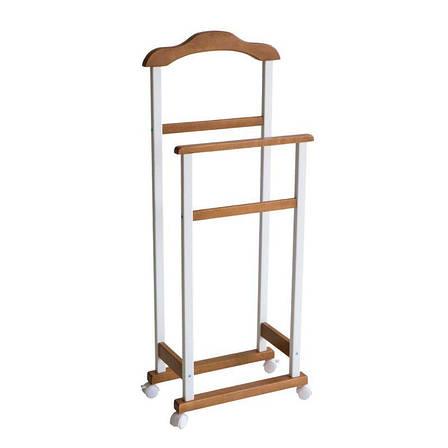 Вешалка напольная Комби (деревянная, на колёсиках) , фото 2