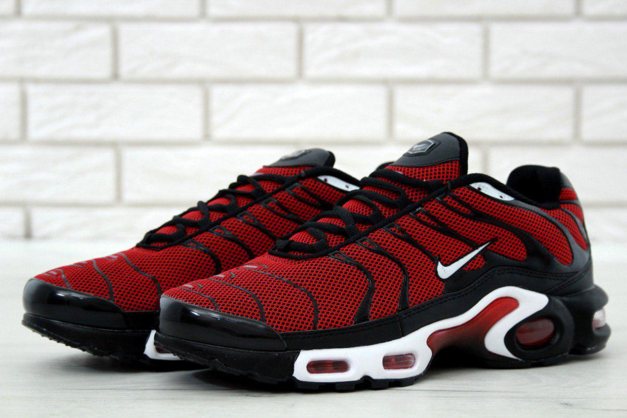 Мужские кроссовки Nike Air Max TN (черные с красным), ТОП-реплика