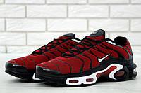 Мужские кроссовки Nike Air Max TN (черные с красным), ТОП-реплика, фото 1