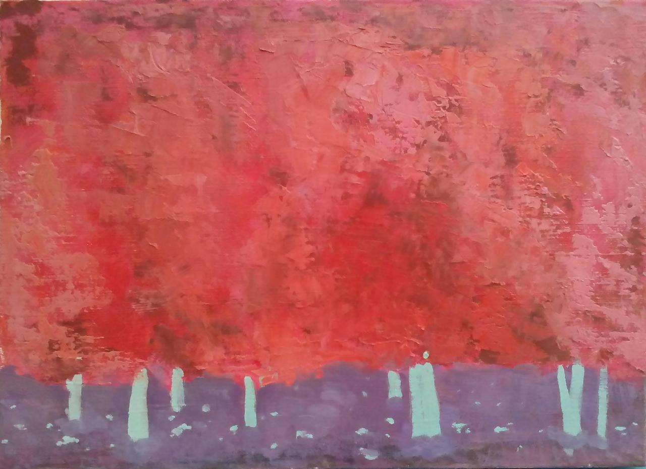"""Картина """"Каштани"""" 40х55 см (акрил, масло)"""