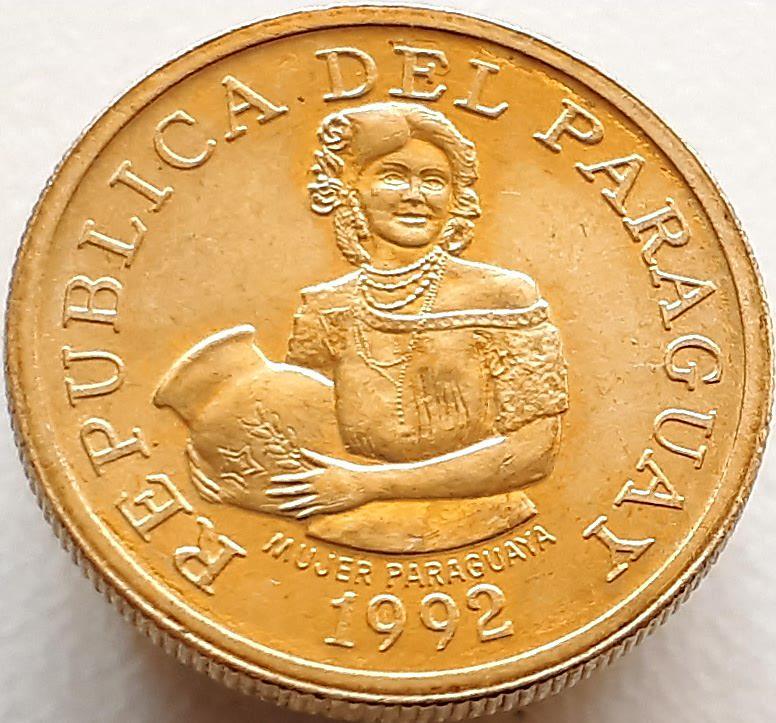 Парагвай 5 гуарани 1992