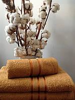 Махровое полотенце 100х150, 100% хлопок 400 гр/м2, Пакистан, Беж без борда