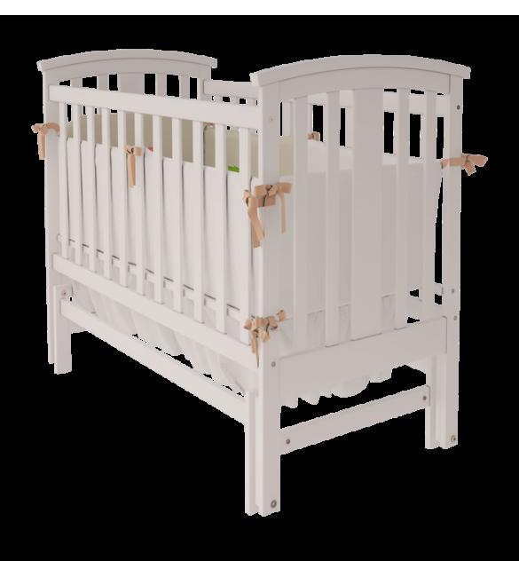 деревянная кроватка для младенцев снежно белая Mia производитель Woodman с ящиком или без
