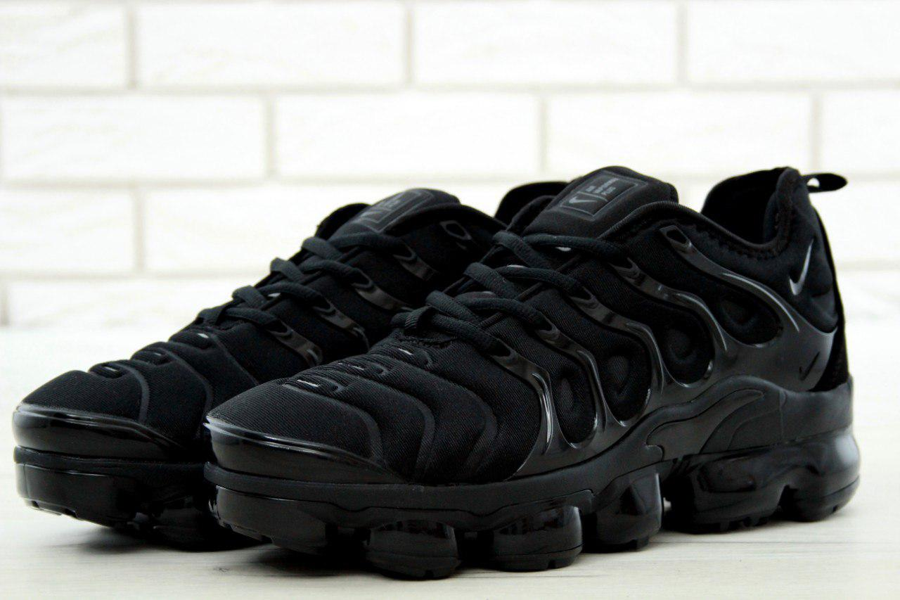 Мужские кроссовки Nike Air VaporMax (черные), ТОП-реплика