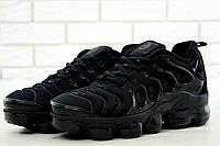 Мужские кроссовки Nike Air VaporMax (черные), ТОП-реплика, фото 1