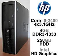 HP 8200 Elite - Intel Core i5-2400 4x3.1GHz /4GB DDR3-1333 /250GB HDD Системный блок, Компьютер, ПК