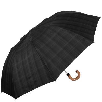 Зонт мужской полуавтомат FULTON (ФУЛТОН) FULG857-Charcoal-Check