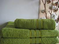 Махровое полотенце 100х150, 100% хлопок 400 гр/м2, Пакистан, Оливковый без борда