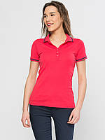 Красная женская футболка-поло LC Waikiki / ЛС Вайкики с воротником