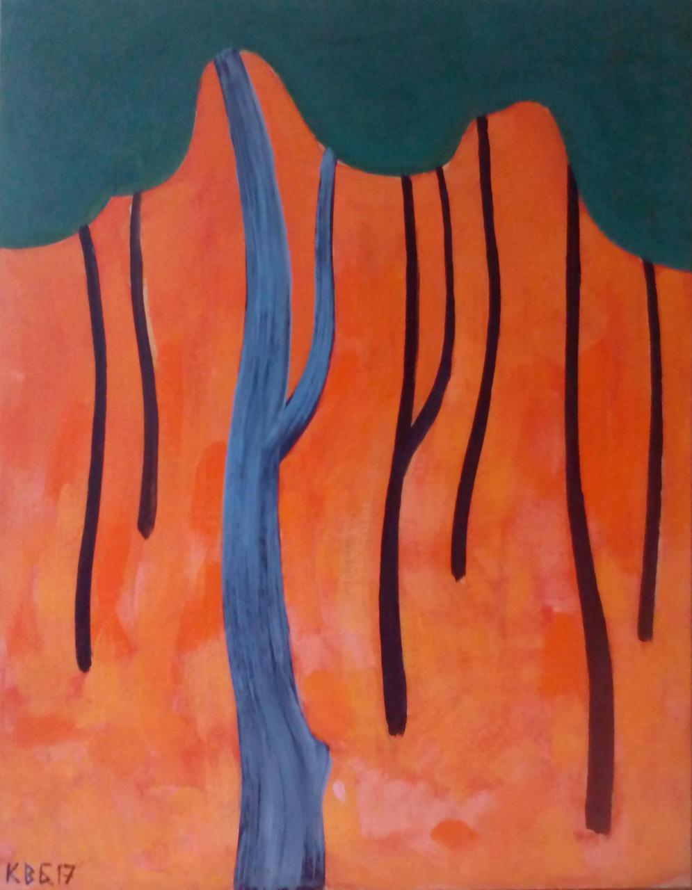 """Картина """"У лісі"""" 50х40 см (оргалит, акрил)"""