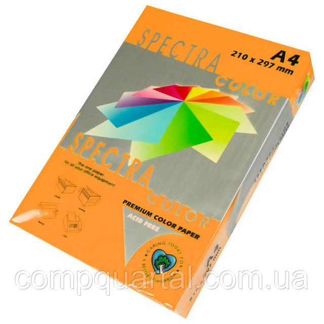 Папір кольоровий 160г/м, А4 250арк. SPECTRA COLOR IT 371 Cyber HP Orange (Неоновий помаранчевий)
