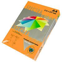 Папір кольоровий 160г/м, А4 250арк. SPECTRA COLOR IT 371 Cyber HP Orange (Неоновий помаранчевий), фото 1