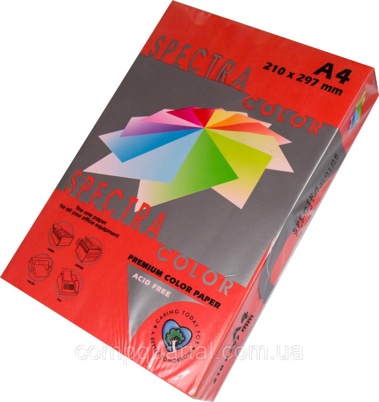 Папір кольоровий 160г/м, А4 250арк. SPECTRA COLOR IT 250 Red (Інтенсивний червоний)