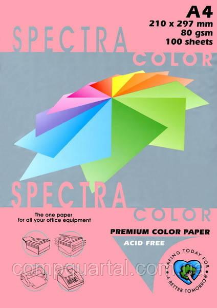 Папір кольоровий 80г/м, А4 100арк. SPECTRA COLOR IT 342 Cyber HP Pink (Неоновий рожевий)