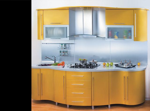 кухни с радиусными гнутыми фасадами мдф фото