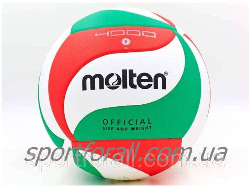 М'яч волейбольний Клеєний PU MOLTEN V5M4000