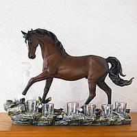 Штоф конь подарочный коньячный набор Гранд Презент ШП407цв