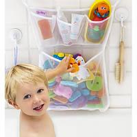 Органайзер для детских игрушек на присосках в ванную. Toys bag Large, фото 1