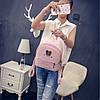 Міні рюкзачок з шкірозамінника з вушками, фото 7