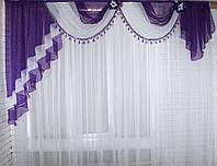Ламбрекен ширина 2.5м. №27 Фиолетовый (У)