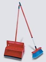 Уборочный комплект для подметания: совок на ручке + метёлка + крючок. Ширина веника - 30 см. (VDM 4350).