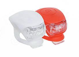 Комплект силиконовых мигалок  белая и красная