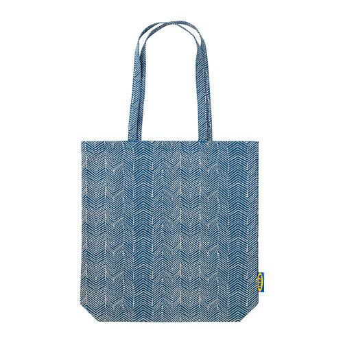 Сумка IKEA TREBLAD синяя бежевая 003.958.36