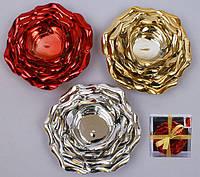 Подсвечник керамический в форме цветка 3 вида