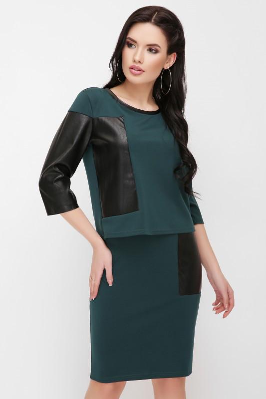 5c3a492b009 Стильный костюм Pollet темно-зеленый - цена 379 грн. Купить в ...
