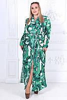 Женское платье халат с банановыми листьями Размеры 50-54