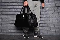 Спортивная сумка в стиле Ferrari феррари черная с белым знаком