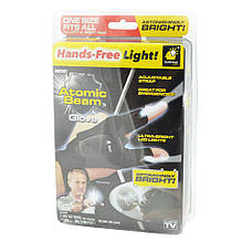 Перчатки с подсветкой hand-free light, фото 3