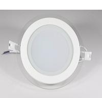 Luxel Панель LED круг 6w  4000K IP20  стекло