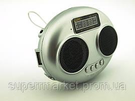 Стерео колонка Kipo KB-815 2W, FM MP3, серебро, фото 3
