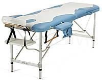 Массажный стол алюминиевый 3-х сегментный BodyFit (бело-фисташковый), фото 1
