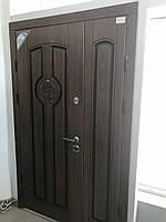 Входные уличные двери двустворчатые