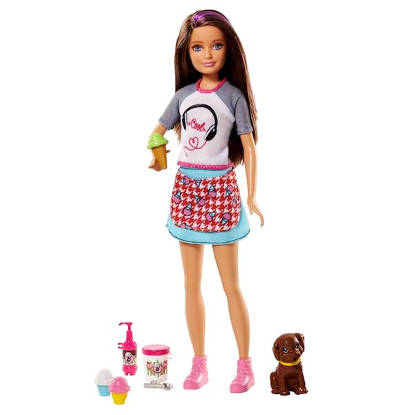 Игровой набор Барби сестричка Скиппер Вкусные развлечения / Barbie Skipper with Ice Cream & Puppy